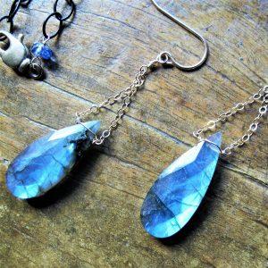 Mojo Owl - Blue Drop Earrings
