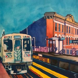 Anna Rae Art - CTA Blue Line (Damen Avenue)