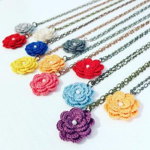 Muggy Tuesday - Flower Necklaces