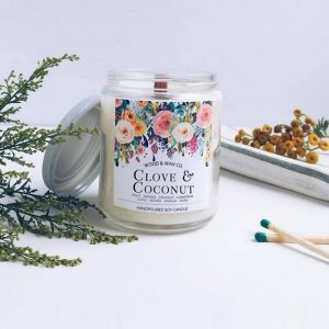 Wood & Wax Co. - Clove & Coconut Soy Candle