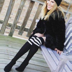 Malka Chic - Black Leggings in December