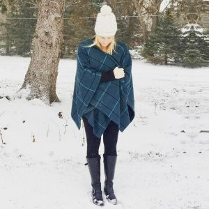 Paige6 - woman in poncho outside in winter