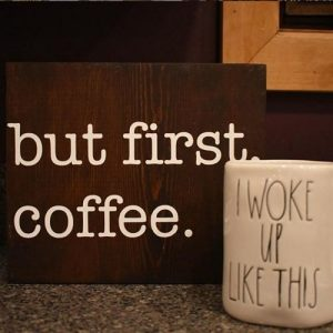 P.S. Molly - DIY wooden sign DIY class (but first coffee)