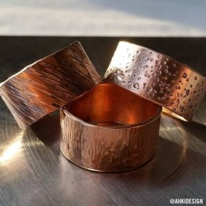 Ahki Design Crew - bronze bands at Chicago Artisan Market