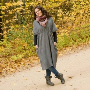 Brilliant Stranger - Steel Blue Cotton Kaftan Dress