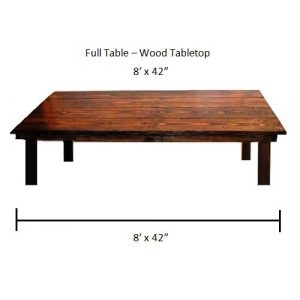 "Full Table - 8' x 42"" - Wood Farm Table"
