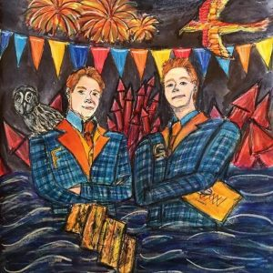 It'll Glow on you Illustrations - Weasley Twins
