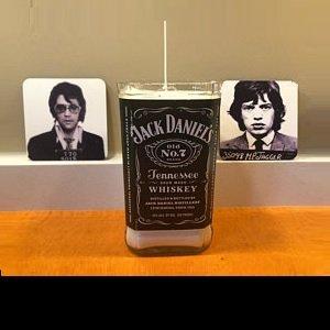 Trash or Burn at Chicago Artisan Market - Jack Daniel's candle with Elvis & Mick