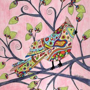 Valerie Lorimer Contemporary Art - colorful cardinal