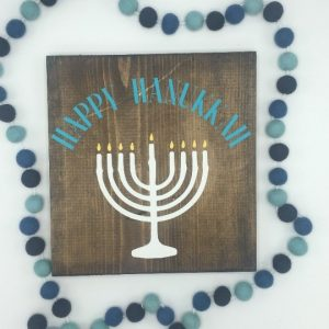 DIY Wood Signs at Chicago Artisan Market (Happy Hanukkah)