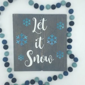 DIY Wood Sign @ Chicago Artisan Market (Let It Snow)