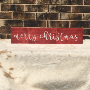 DIY Merry Christmas Wood Sign