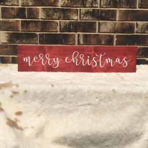 DIY Merry Christmas Wood Sign