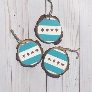 DIY Ornament Making @ Chicago Artisan Market (Chicago Flag)