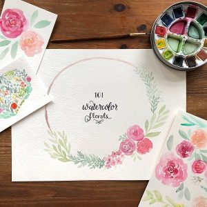 Cynthia Moos - Painting Floral Watercolors at Chicago Artisan Market