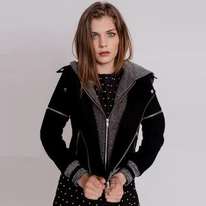 Christina Karin (varsity suede moto jacket) - Chicago Artisan Market