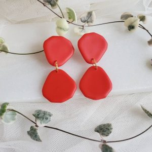 Sputtering Glimmer - Chicago Artisan Market (red clay earrings)