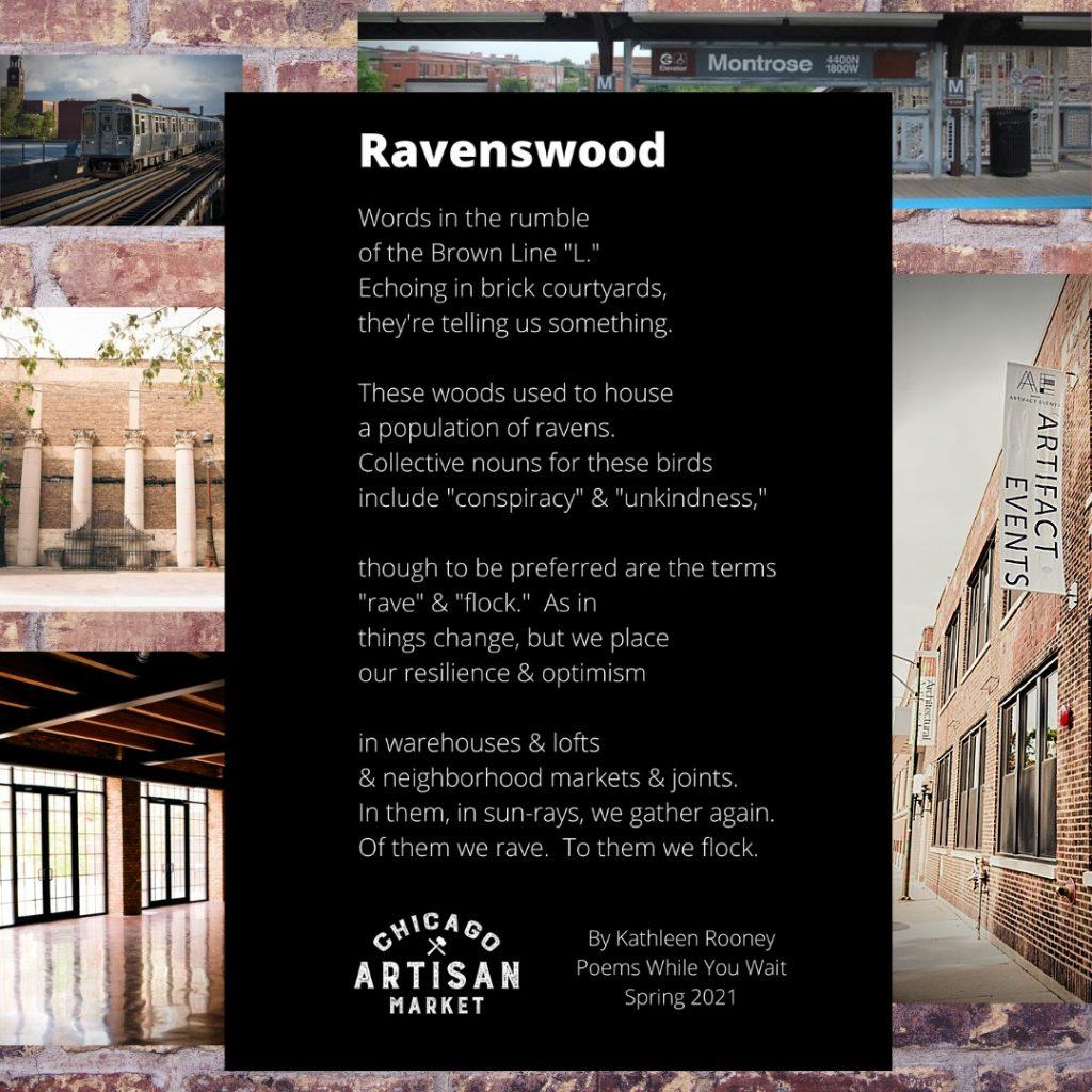 Ravenswood neighboorhood poem by Chicago-based poet and novelist, Kathleen Rooney