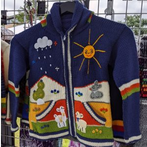 Alpamowi at Chicago Artisan Market (kids sweater)