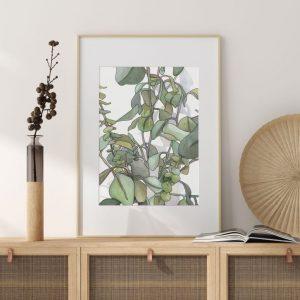 Kate's White Paper @ Chicago Artisan Market (framed print, eucalyptus)