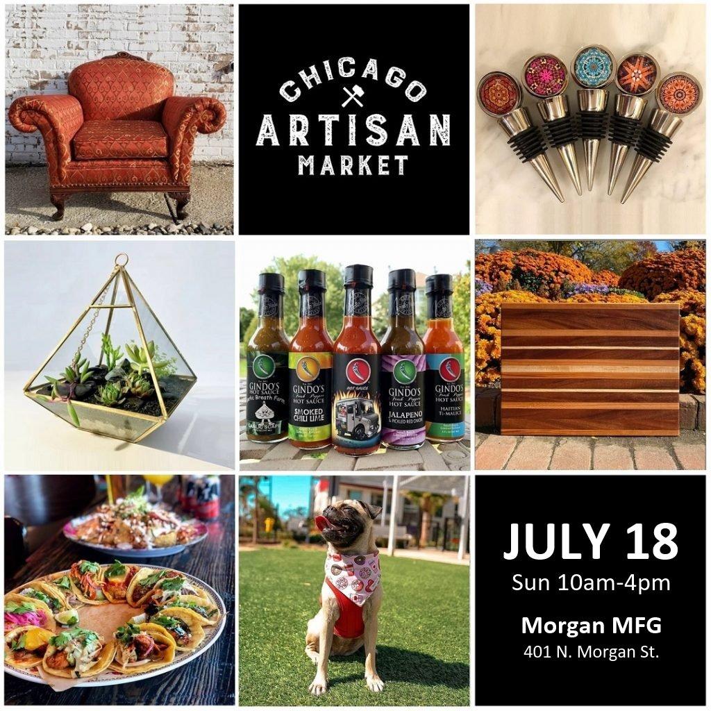Chicago Artisan Market - Sun, July 18, 2021 at Morgan MFG (401 N. Morgan St.)