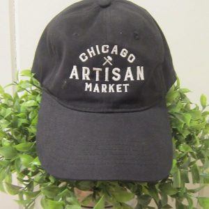 Chicago Artisan Market - adjustable black hat (twill with embroidered logo))